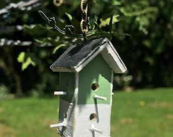 Miniature 2 Story Birdhouse 1:12 Scale Dollhouse Accessory