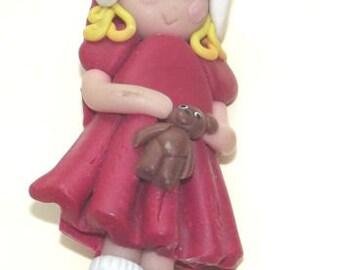 A Handmade Little Girl Brooch, Cute Girl Brooch  - Unique
