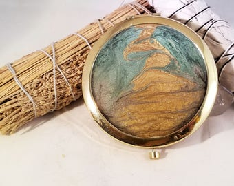 Winding road - cp1g - Compact Mirrors - Gifts for Her - Bridesmaid Gifts - Party Favors