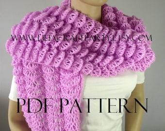 KNITTING SHAWL PATTERN - Bohemia Wrap Shawl - pdf Pattern instant download Shawl Knit Wrap soft lace pattern easy knitting pattern design