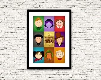 Golden Ticket Series Charlie & the Chocolate Factory Poster All Characters 16x24