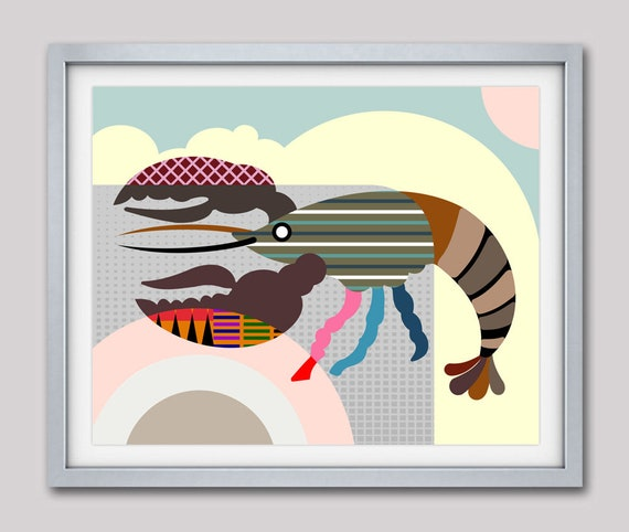 Lobster Art Print, Lobster Wall Art, Lobster Wall Decor, Lobster Painting, Lobster Poster, Lobster Gift, Lobster Design