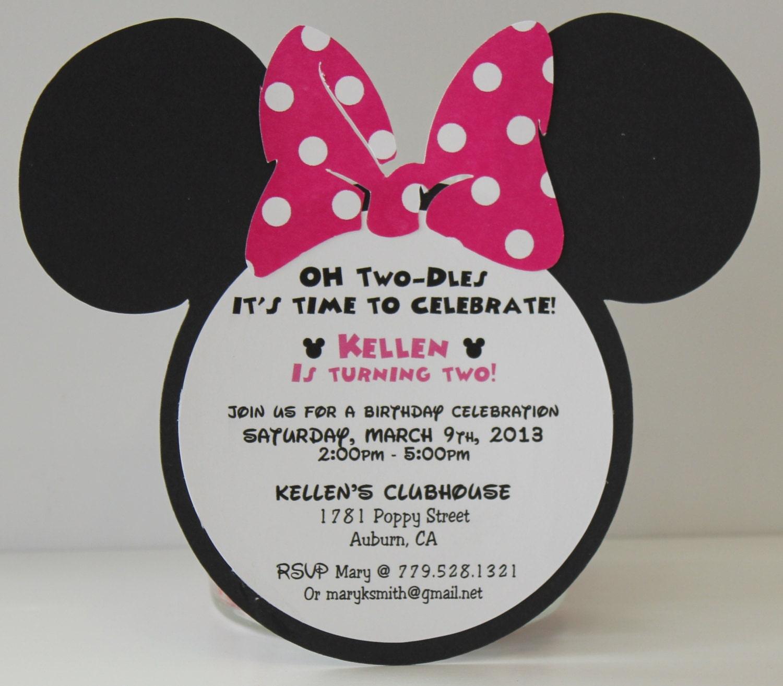 Minnie mouse birthday invitations invitation pink polka zoom solutioingenieria Choice Image