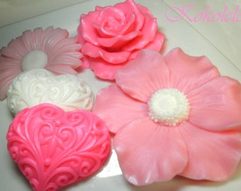 Flowers Soap Set of 5 pieces