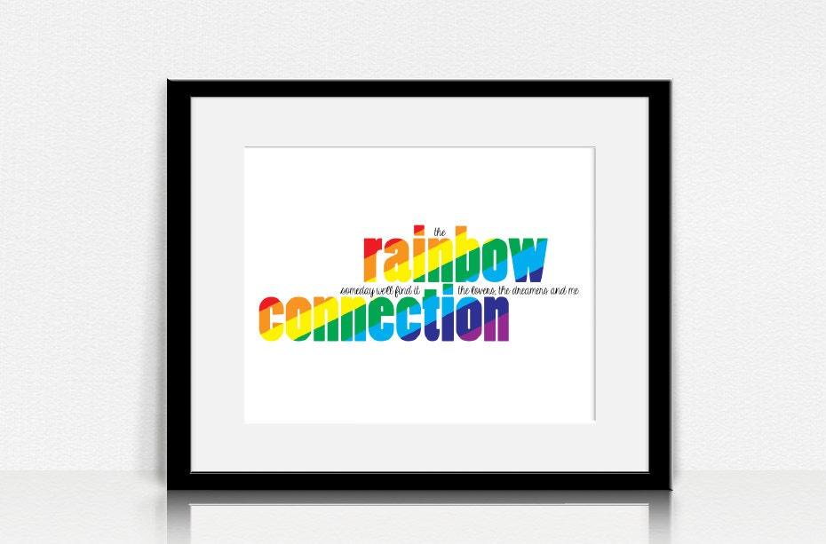 Lyric rainbow connection lyrics : Rainbow Connection / The Muppets Lyrics Wall Art Digital
