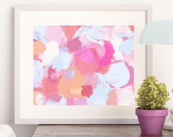 In the Garden Abstract - Art Print