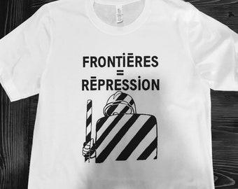 Vintage France protest T shirt