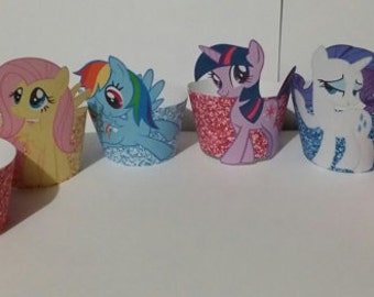 DIGITAL FILE (PRINTABLE) My Little Pony cupcake wrappers