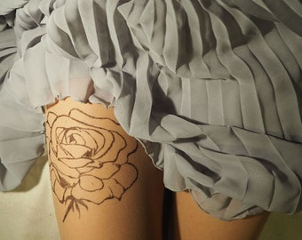 Tattoo rose  tights