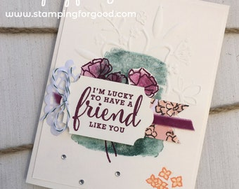 Friendship Handmade Greeting Card - Stampin' Up Love What You Do