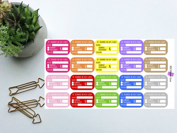 online order tracker planner stickers a5 stickers order tracker stickers functional planner stickers personal planner stickers from pdxplannerlove on