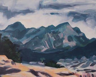 Painting of Utah Original Acrylic Landscape Art on Wood Panel 8x10
