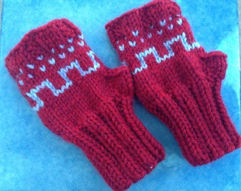 Mittens child without Fingers Fair Isle