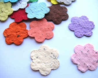 100 Plantable confetti FLOWERS- choose from 16 colors- Wildflower blend