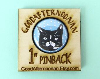Tuxedo cat magnet, black white cat magnet, cat owner gift, funny cat gift, cat stocking stuffer