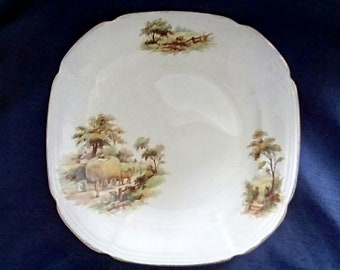 Alfred Meakin Hayride Cake/Sandwich Plate