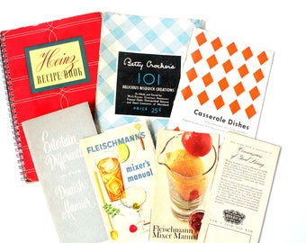 Collection of Vintage Recipe Books
