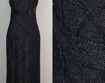 SALE Bob Mackie* Deadstock NWT Black Beaded Gown/ Formal