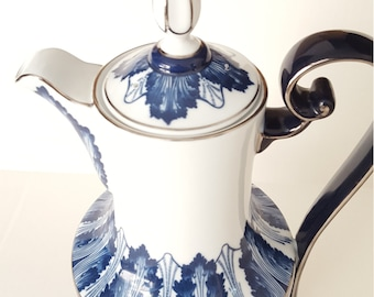 Art Deco Coffee Pot,  Bombay Company, Mismatched Dishes, Shabby Chic, Vintage, Collectable, Dinner Party, Tea Party , Luncheon, Brunch,