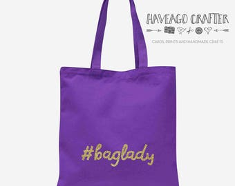 Baglady cotton tote bag