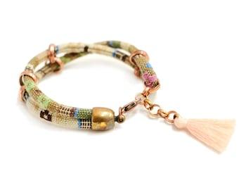 Boho Cord Bracelet, Friendship Rope Bracelet, Casual Bracelet, Tassel Bracelet, Ethnic Bracelet, Hippie Bracelet, Ibiza Style