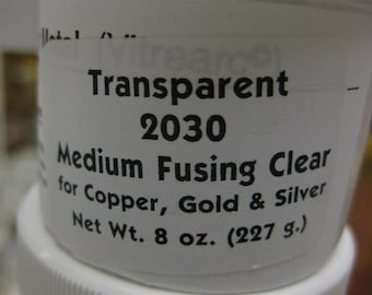 MEDIUM FUSING CLEAR 2030 Transparent Enamel 2 ounce jar
