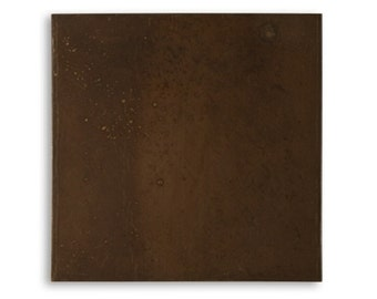 1 Vintaj Blank Canvas 3x3 inch BP010, 24 gauge Sheet. Natural Brass Altered Blank--Make Bezels and More