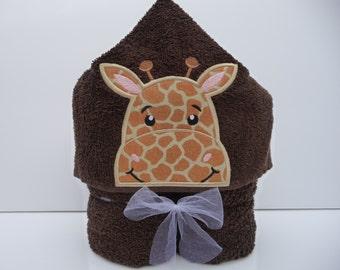 Giraffe Hooded Towel - Animal Hooded Towel - Kid's Hooded Towel - Giraffe Towel - Baby Gift