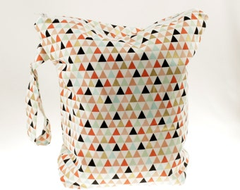 Geometric Wet Bag- Coral/Gold/Mint/Blush