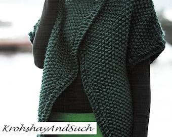 Ladies Coverlet, Super Bulky, Knitting Pattern. PDF Instant Download.