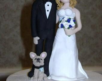 Wedding Cake Topper, Custom Cake Topper, Personalized, Polymer Clay Bride and Groom, Wedding/Anniversary Keepsake