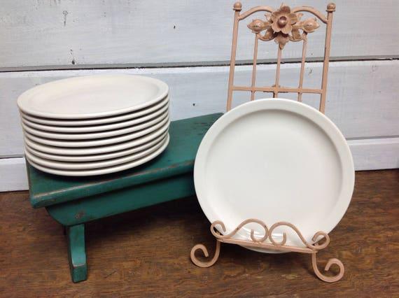 & Vintage Buffalo China Dinner Plates 9