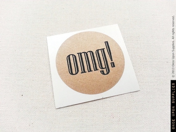 30 omg round stickers funny stickers labels envelope seals party favor labels custom word stickers rustic labels
