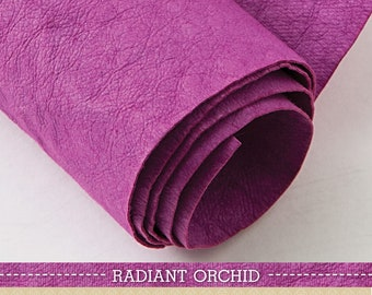 Kraft-Tex Roll, Designer Radiant Orchid, 18.5 Inches x 28.5 Inches Paper Fabric Pre-washed