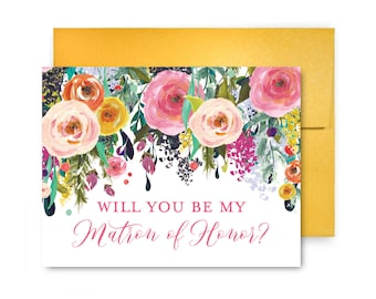 Bridesmaid Card, Will You Be My Bridesmaid Card, Bridesmaid Proposal, Will You Be My Maid of Honor, Matron of Honor, Flower Girl #CL242