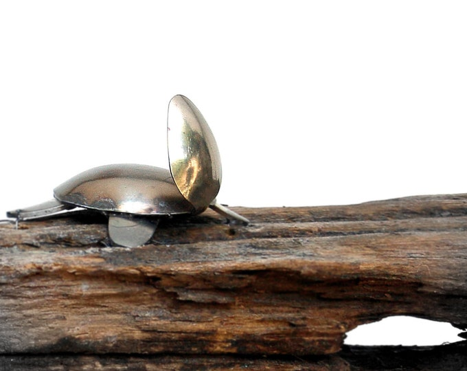 Metal Sea Turtle Sculpture, Windchime, Wind Chime, Water Turtle,tortoise Shell, Recycled Metal Art, Animal Art, Kitchen Ladle Spoon, Shells