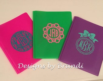 Monogram Folders, monogrammed school supplies, personalized folders, personalized school supplies , monogrammed folders, back to school