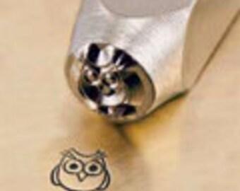 ImpressArt 6mm Hootie Design Stamp, Owl Stamp, Owl Design Stamp, jewelry stamping tools, stamps, metal stamps, metal stamping tools