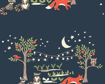 Monaluna Cottage Garden Night Garden Organic Cotton Fabric