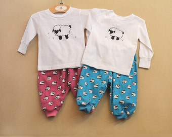 Set Of 2 Coordinating Twin Outfits Twin Baby Gift Matching Boy