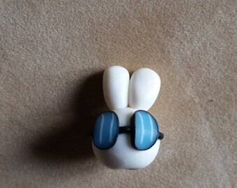 Perle Visage rabbit with polymer clay