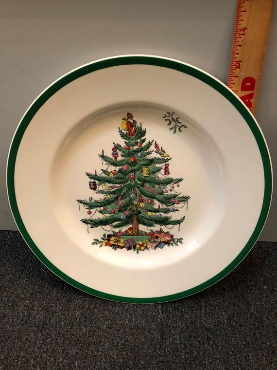 FREE SHIPPING-Spode-England-Christmas Tree-10 3/4 inch Dinner Plate