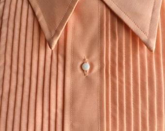 vintage After Six peach Boys tuxedo shirt (deadstock)
