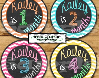 Personalized Baby Monthly Stickers, Baby girl monthly stickers, Infant Month stickers, Baby age sticker, Month baby sticker, Newborn sticker