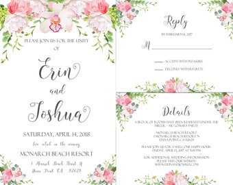 Wedding Invite Reply/RSVP Details Package