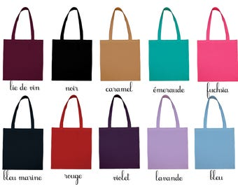 Tote bag color Virgin individually, all possible marking, flex, embroidery, painting, bag to personalize, discount