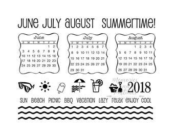 Summer Plans - Summer Planner Stamp Set - BUJO Stamps - Bullet Journal Stamps - SRM Press - Clear Stamps - 042326