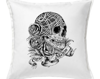 Carpe Noctem (Seize The Night)  Feather Throw Pillow