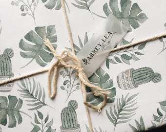Greenery Wrapping Paper - Watercolor
