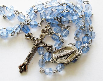 Blue  and Silver Rosary
